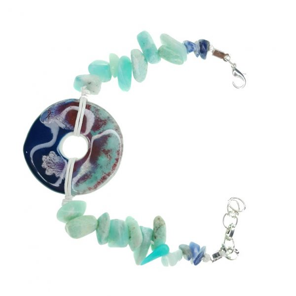 Porcelain and Seashell bracelet