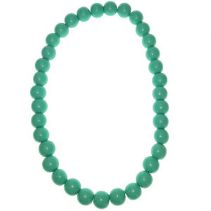 Aqua 20mm wooden beads string necklace