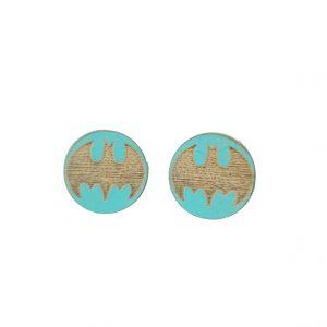 Batman laser cut wooden earrings