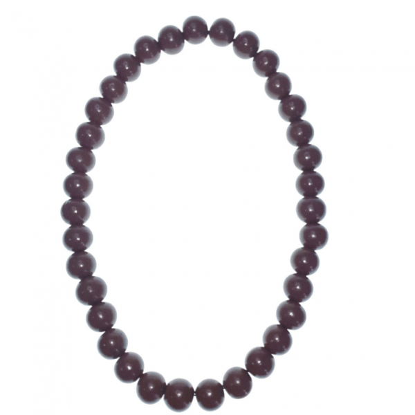 Chocolate Brown 20mm wooden beads string necklace