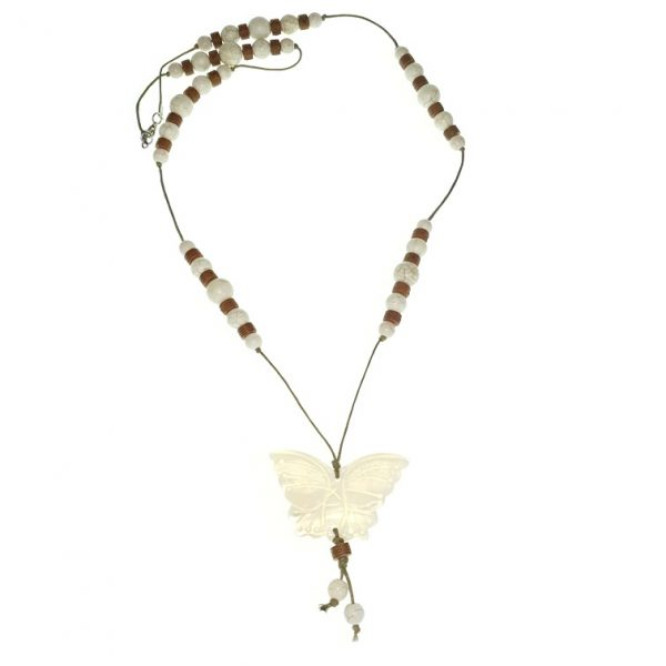 Stone necklace with a Seashell pendant