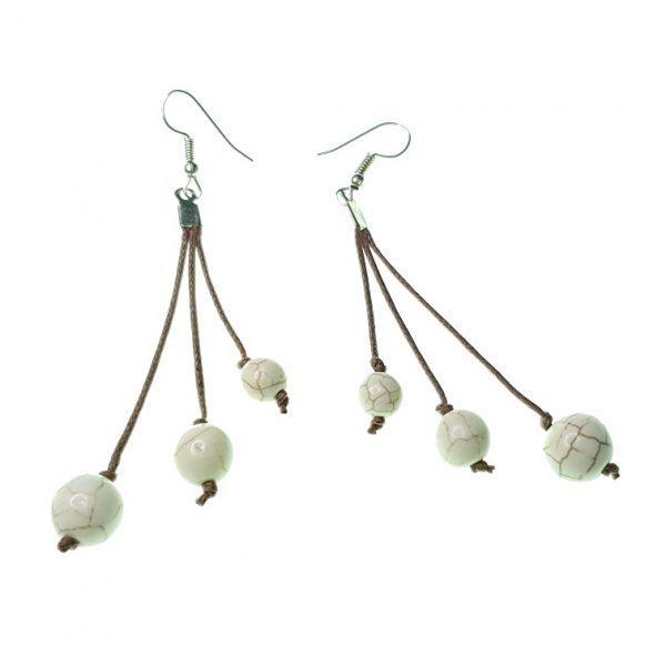 Stone beads earrings