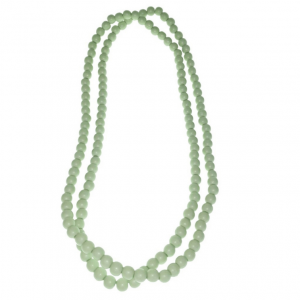 Long mint wooden beads necklace