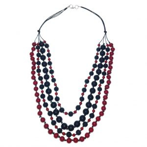 Beaded four layer Stone necklace