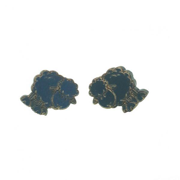 Sheep laser cut wooden earrings