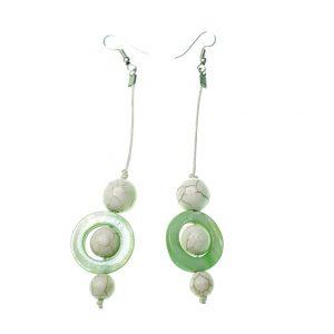 Stone and Seashell earrings