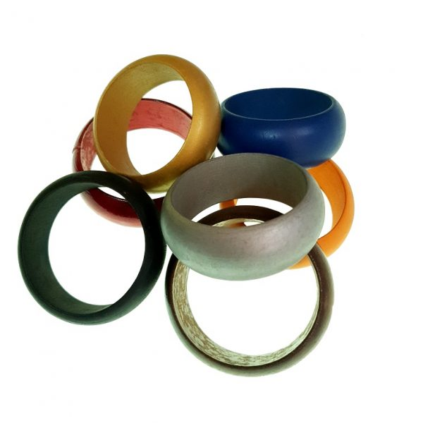 Thick wooden bangles