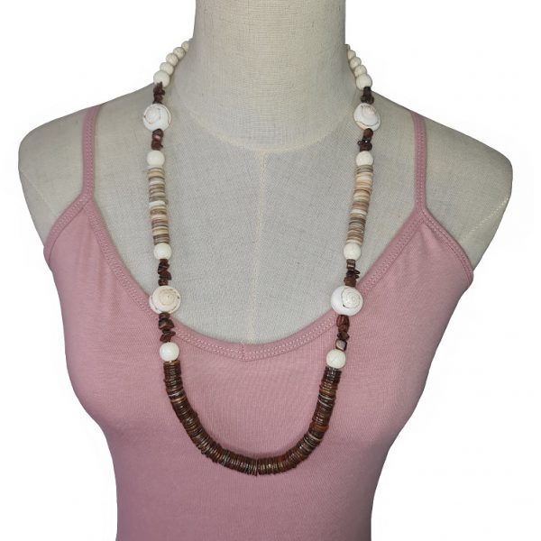 Brown and cream Seashell necklace