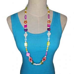 Multi colour Seashell and Stone necklace